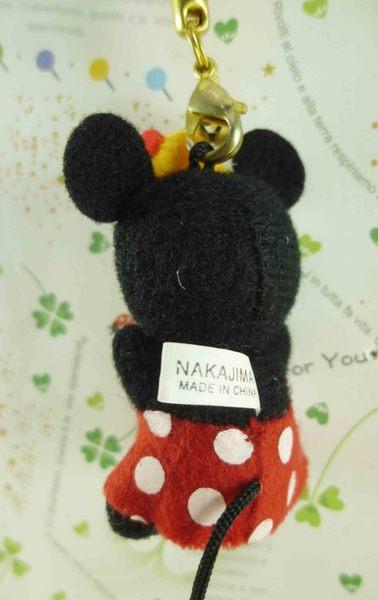 【震撼精品百貨】Micky Mouse_米奇/米妮 ~絨毛鈴鐺吊飾-米妮