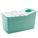 折疊浴桶 泡澡桶成人折疊浴桶嬰兒便捷式浴盆大人通用洗澡桶兒童塑料桶家用 店慶降價