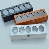 實木質手錶盒收納盒手鍊首飾盒飾品收藏盒桌面儲物盒新品創意【快速出貨】