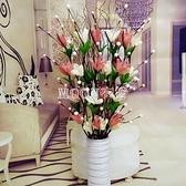 葉脈干花仿真干枝假花客廳落地擺件居家新房裝飾花瓶花藝組合套裝 YYJ 快速出貨