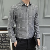男士長袖加絨加厚休閒格子襯衫大碼韓版修身格紋時尚工裝襯衣寸衫   夏季新品