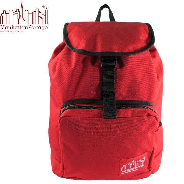 〔↘下殺5折↘〕Manhattan Portage 曼哈頓包 後背包 潮流束口後背包 1219-RED 紅色 得意時袋