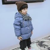 新款兒童冬季外套加厚女童羽絨服中長款男童寶寶白鴨絨童裝潮   可然精品鞋櫃