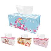 【收納王妃】迪士尼櫻花系列立體收納面紙盒 奇奇蒂蒂/小飛象/瑪麗貓小鹿斑比