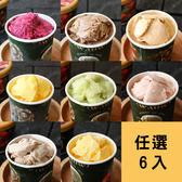 【新北市糕菲膳工坊】義式手工冰淇淋6入(請在備註欄註明需要的六種口味)