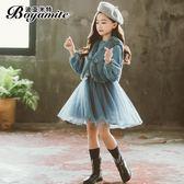 女童連身裙兒童公主裙套裝洋裝加絨【聚寶屋】