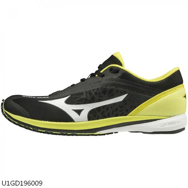 MIZUNO WAVE DUEL [U1GD196009] 男款 運動 慢跑 馬拉松 休閒 輕量 避震 耐磨 黑黃