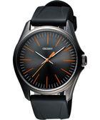 ORIENT 東方 簡約日系休閒石英腕錶-鐵灰x黑/43mm FQC0S00BA