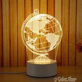 led小夜燈3D小臺燈臥室床頭燈插電喂奶燈嬰兒臥室睡眠燈生日禮物220v   color shop