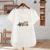 【全館8折】T恤女短袖圓領套頭棉麻上衣t恤衫