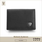 Kinloch Anderson 金安德森 皮夾 單色優質男  黑色 牛皮卡夾 橫式名片夾 KA53307 MyBag得意時袋
