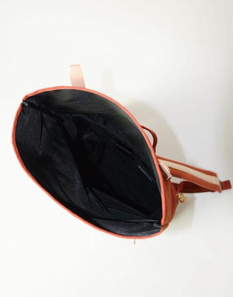 MSPC(master-piece) SURPASS-V2 No.12164-V2 [高質感原色牛皮拼接後背包-橘色]