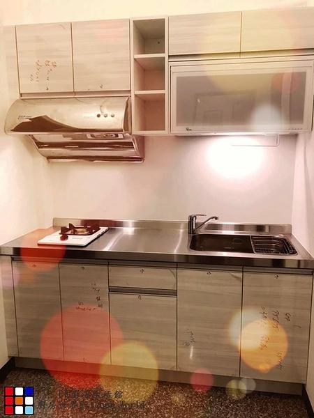 【PK廚浴生活館】高雄 客製化 量身訂作 歐化系統櫥具 一字型流理台 美耐門板 實體店面