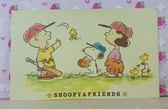 【震撼  】史奴比Peanuts Snoopy 卡片_ 棒球_ 黃
