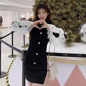 降價兩天 法式復古蕾絲洋裝 收腰名媛連身裙 高端氣質2020年新款女修身包臀裙