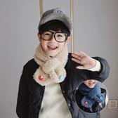 2020冬裝新款男童舒適圍巾可愛百搭寶寶圍巾羊羔毛韓版圍脖保暖潮