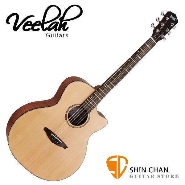 【缺貨】Veelah 吉他 VGACSM 雲杉木 切角 民謠吉他 附贈Veelah原廠琴袋 GA桶身 台灣公司貨【木吉他】