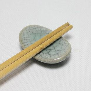 中日式 哥窯粉青筷子架