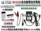 【久大電池】台灣製造 6V0.3A 智慧型 充電器 充電機 可充6V1Ah~4Ah 電池 兒童電動車 燈具電池