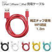 Hamee 自社製品 蘋果認證 Color Cable 充電線 Lightning USB 傳輸線 (任選) 黑色 276-887400