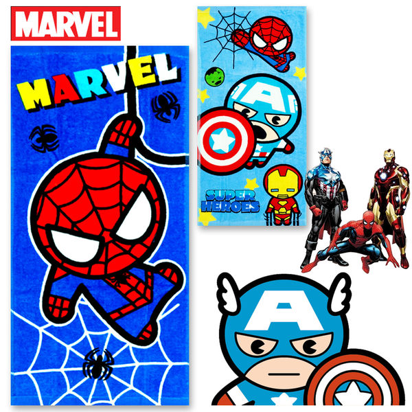 復仇者聯盟 鋼鐵人 美國隊長 蜘蛛人 漫威 英雄 毛巾 童巾