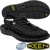 KEEN 1014097黑色 Uneek 男專業戶外護趾編織涼鞋 水陸兩用鞋/沙灘戲水拖鞋