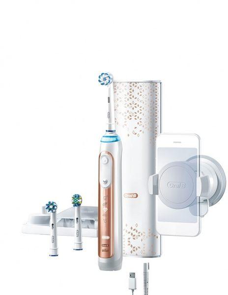 【德國製】百靈Oral-B Genius 9000 3D智慧追蹤電動牙刷(玫瑰金) 六段潔牙模式 清除最高99.8%牙菌斑