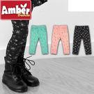 Amber  長褲  褲子  鬆緊合身內搭褲  甜美小碎花