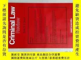 二手書博民逛書店THE罕見CRIMINAL LAW REVIEW 2013 5