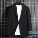 西裝外套 西裝男士時尚修身職業工裝西服中青年新款商務休閒單西外套【快速出貨】