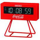 限量 SEIKO精工 可口可樂聯名計時小桌鐘-10.5x9.5cm QHL901R