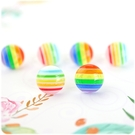 耳環 雨過天晴 - 彩虹 透明耳針/耳夾 (單只價) i917ღ