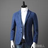 西裝男 重磅牛貨 19羊毛 外貿工廠男裝剪標時尚休閑毛呢西服西裝外套單西 布衣潮人