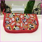 米奇迪士尼護照萬用收納包((紅)女衣旅行可愛首選