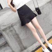 魚尾裙半身裙新款半裙高腰一步裙包臀裙A字裙子 chic短裙女夏  蒂小屋服飾