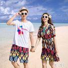 波西米亞洋裝 情侶裝泰國三亞海灘度假沙灘...