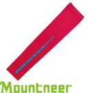 【Mountneer 山林 中性 抗UV反光袖套 深玫紅】 11K99/防曬袖套/防曬手套/自行車/機車