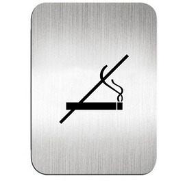 迪多Deflect-o 鋁質方形貼牌-禁止吸煙 610810S