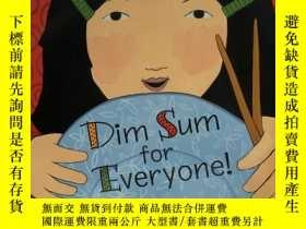 二手書博民逛書店原版英文繪本罕見Dim Sum for Everyone 給大家的點心 了解中國傳統文化 英語啟蒙認