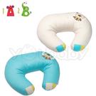 1A2B 多功能哺乳枕/靠墊枕/頸肩枕 -湖水藍/卡其