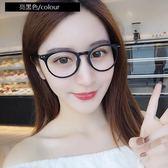 現貨-韓國ulzzang原宿高品質復古眼鏡框眼鏡女款學生圓框透明眼鏡復古潮男 復古時尚輕佩戴舒適 1