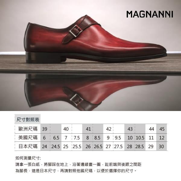 【MAGNANNI】翼紋牛津紳士皮鞋 藍色(18088-NA)