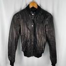BRAND楓月 GUCCI GG 古馳 黑色 皮衣外套 女版 帆布縮口 皮外套 #38 皮衣 個性 保暖 造型