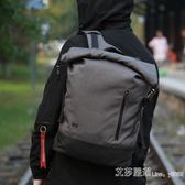 後背包男休閒時尚英倫背包大容量電腦包旅行包個性青年大學生書包 艾莎嚴選