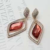 耳環 玫瑰金 925純銀鑲鑽-優美氣質情人節生日禮物女飾品2色73gs163【時尚巴黎】