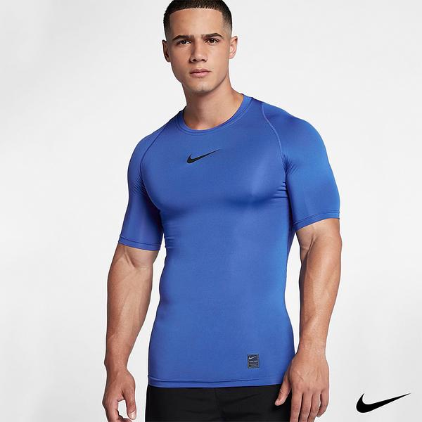 NIKE PRO Men's Training 男短袖運動訓練緊身衣 藍 838092-480