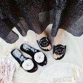 拖鞋女 2018新款山茶花一字拖涼拖鞋女夏季韓版時尚花朵女鞋涼鞋外穿厚底 芭蕾朵朵