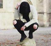 BIRDYEDGE 訂製款 SLP聖羅蘭 風格破褲 大破洞 GD穿搭 破褲 窄版 圓球破褲