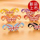 ►歐美熱賣  小鬍子復古英倫米字旗戒指環【B2052】