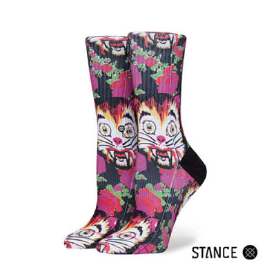 【蟹老闆】STANCE 現貨 CAT MAN DO HIGH BOY 女生中筒襪 W556C17CAT